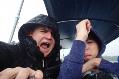 A very wet boat ride.