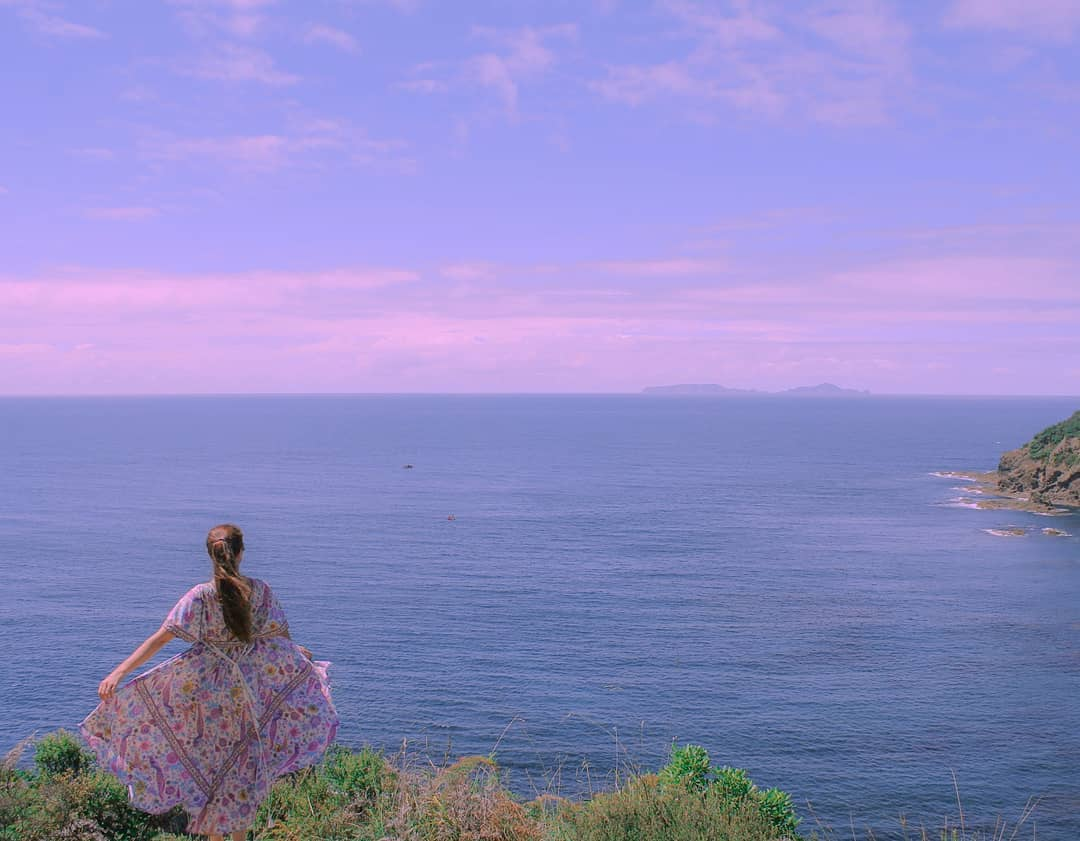 tutukaka, hippie dress, sunset