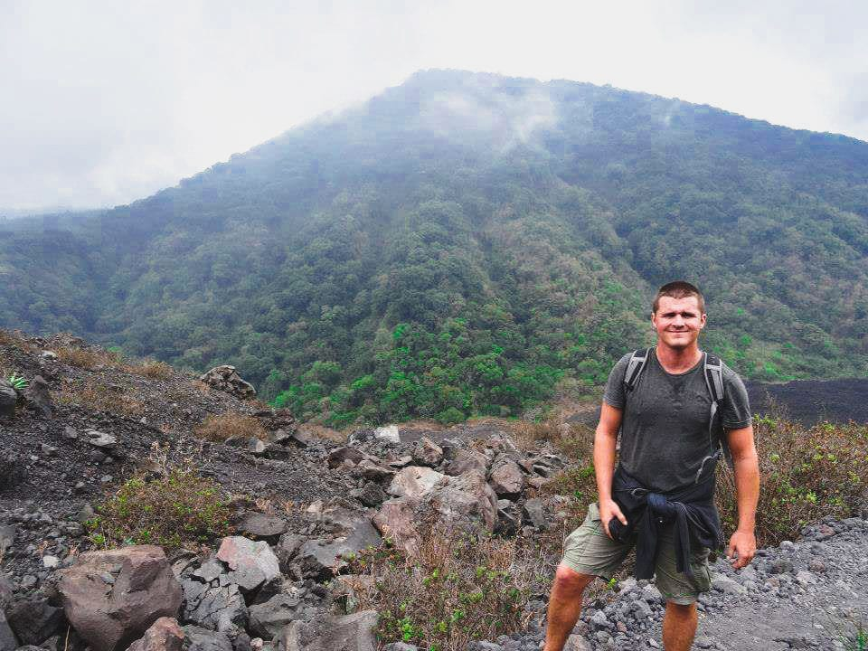 Paul at the summit of the Volcano