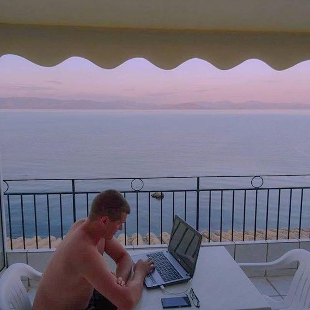 corfu, greece, balcony
