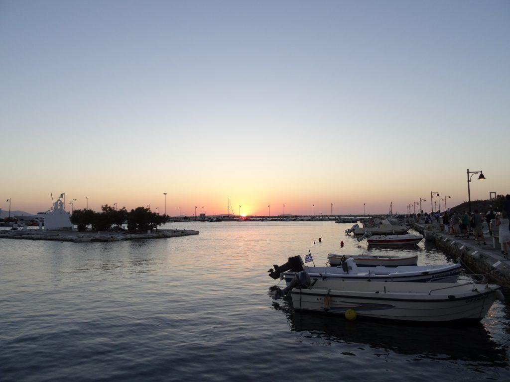 sunset, athens, greece