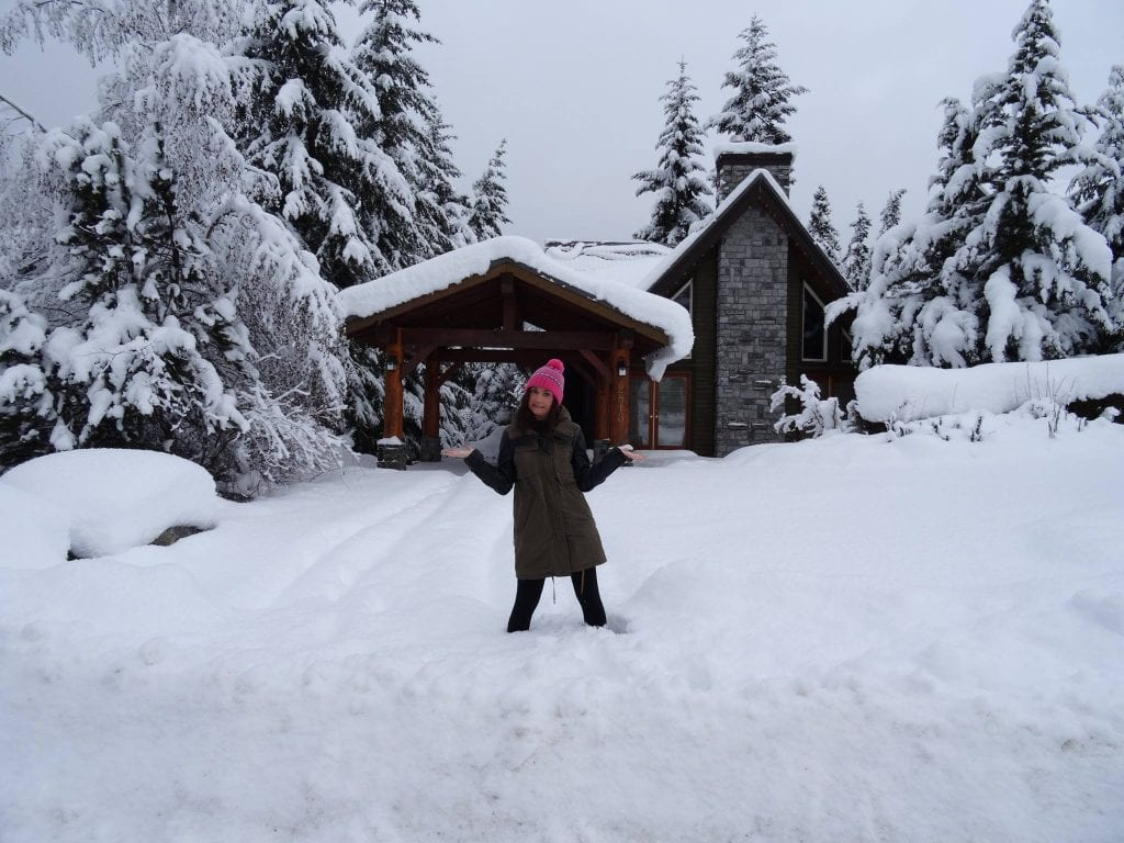 snowy home in whistler canada