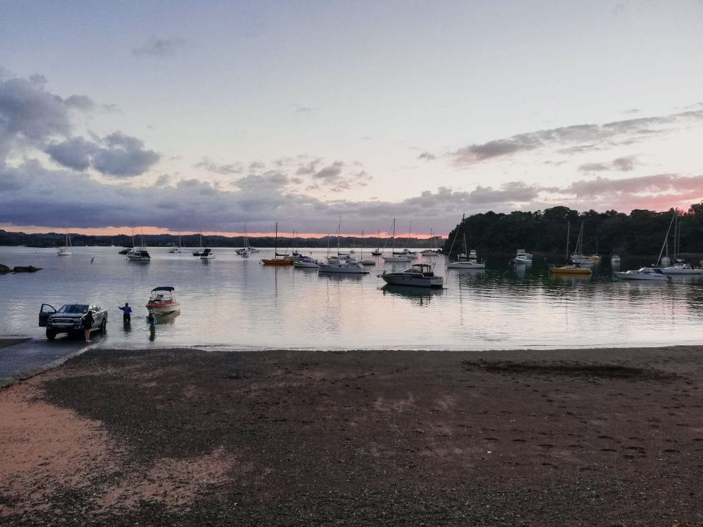 sunset, new zealand, opito bay, northland