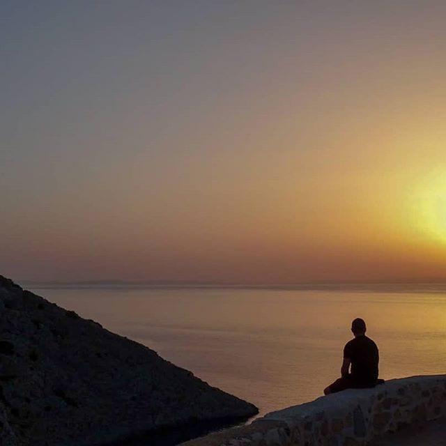 syros, greece, sunset
