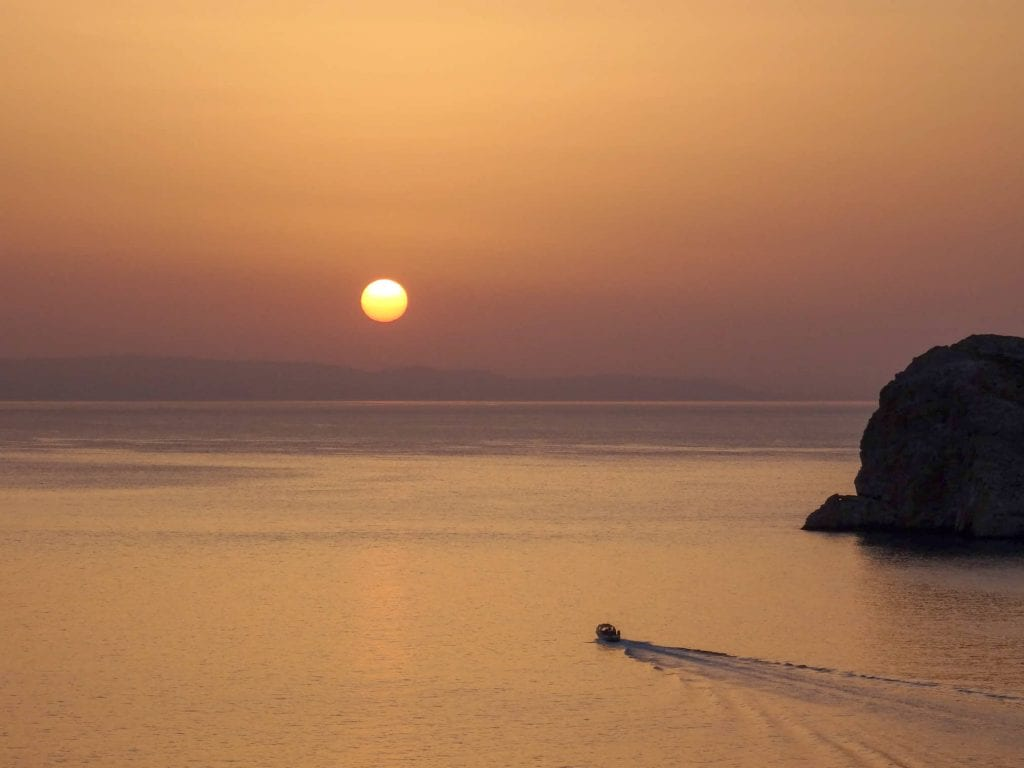 sunset from agia pakou church