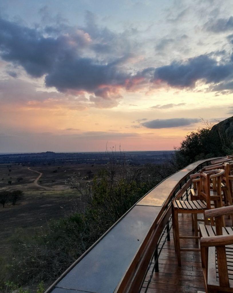 Sunset from Lobo Wildlife Lodge
