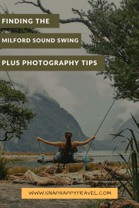 The famous Milford Sound swing, a secret spot that can be difficult to find. Here are our detailed directions to this magical place.