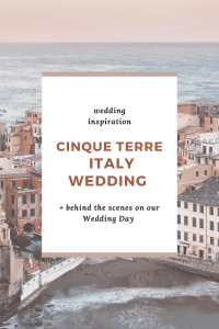 A detailed description of our recent wedding in Cinque Terre including how we planned it from abroad and how we found a venue.