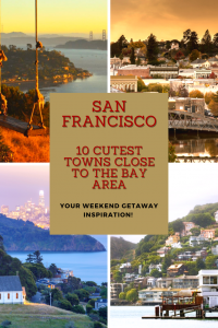 I've cherry picked 10 cute towns near San Francisco, all easily accessible from downtown and under a 2 hour drive.