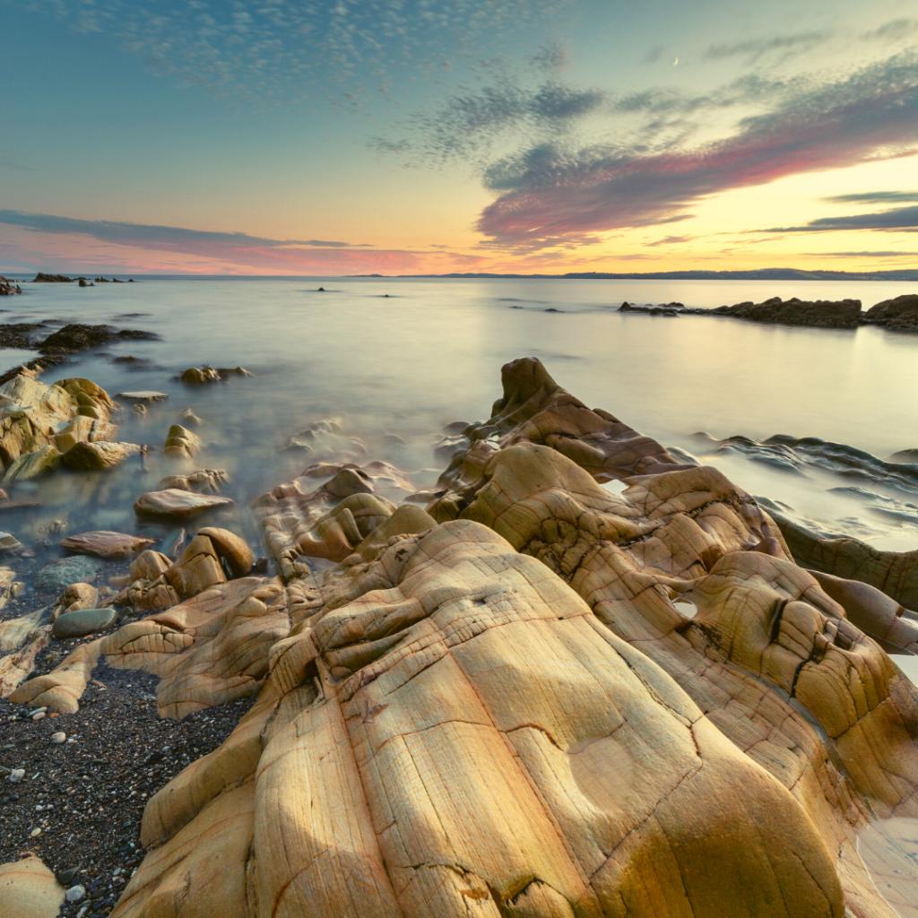 sunset at long strand west cork
