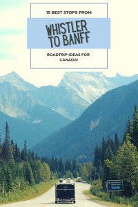 The drive from Whistler to Banff is a stunning road trip and takes in giant snow-covered mountains, pretty waterfalls and bright blue lakes.
