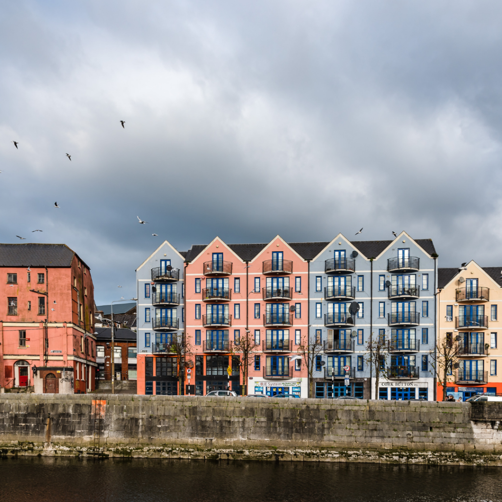 Colorful houses in North Quay Cork City!